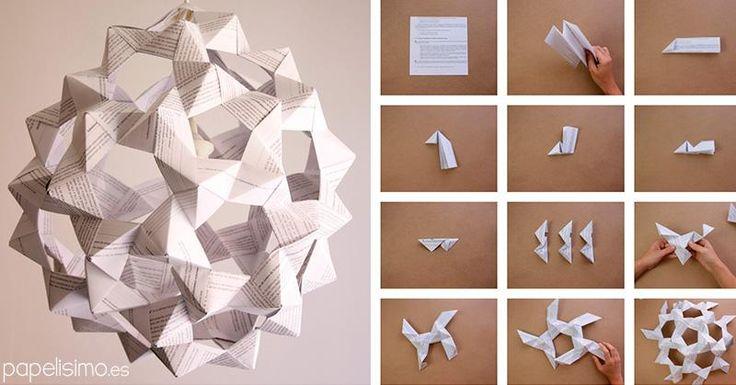 Las lámparas DIY están de moda. Si quieres una, ¡toma nota de este estupendo tutorial para hacerla con papel!