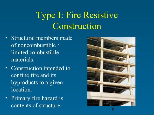 Type 1 construction structural systems pinterest for Types of construction insurance