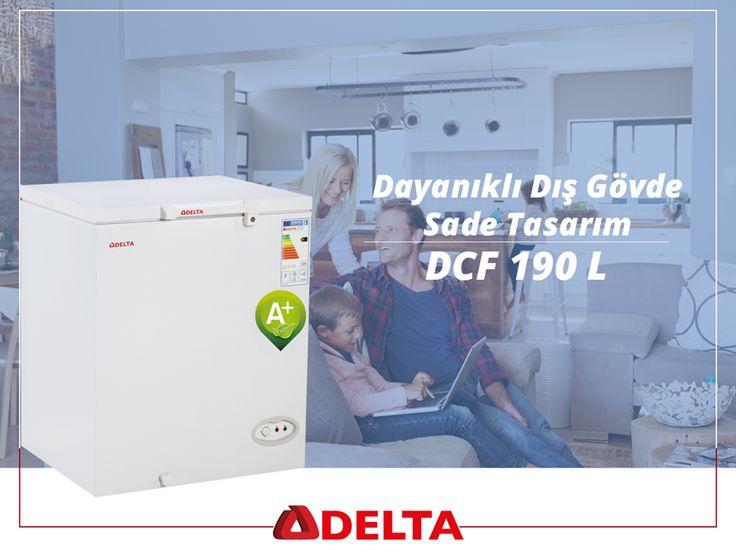 Delta DCF 190 L derin dondurucular, dayanıklı dış gövdesinin yanında sade tasarımıyla mutfakta hayatınızı kolaylaştırır. http://www.deltasogutma.com.tr/