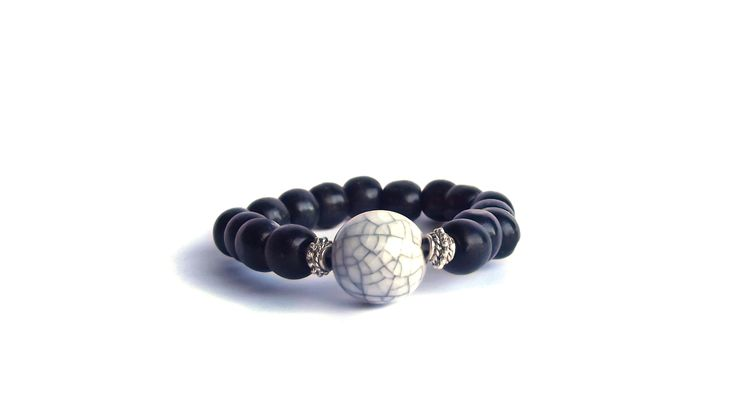 Black with howlite stone elastic.    To find price visit website