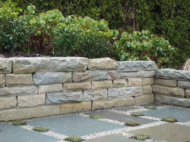 Haddington Island Drystack Retaining Wall