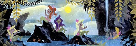 scene from Peter Pan by Mary Blair
