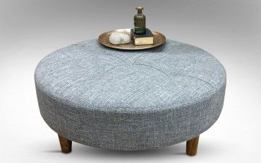 Sara Round Upholstered Coffee Table Ash| Rice Furniture