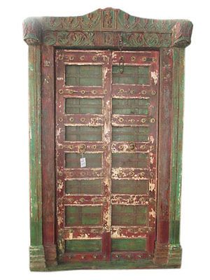 ANTIQUE-JAIPUR-KRISHNA-DOORS-INDIA-CARVED-TEAK-RED-GREEN-SOUTHERN-resort-design    http://stores.ebay.com/mogulgallery/ARCHITECTURALS-/_i.html?_fsub=353413619&_sid=3781319&_trksid=p4634.c0.m322