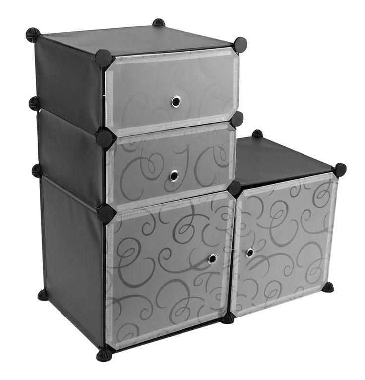 Primematik Wardrobe Closet Wardrobe With 4 Cubes Of