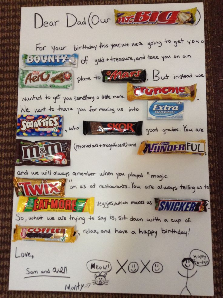Dad's Birthday gift. Quick & easy, great homemade present
