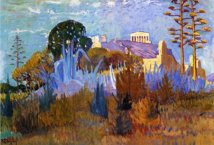 Ακροπολη 4, Κωνσταντίνος Μαλέας   Πίνακες ζωγραφικής, καμβάς, λαδοτυπία, αφίσα, κορνίζα