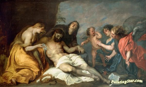 Lamentation over the dead christ Artwork by Anthony van Dyck Hand-painted and Art Prints on canvas for sale,you can custom the size and frame
