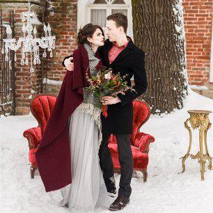 Винтажная нежность: зимняя свадебная фотосессия Виталия и Екатерины