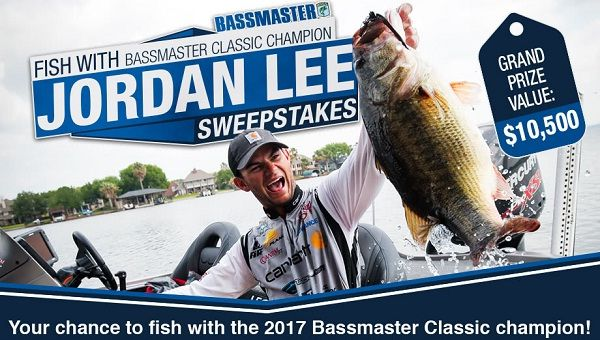 Grab a chance to enjoy fishing with Bassmaster Classic Champion, Jordan Lee and win free fishing gear package of Jordan lee's gear. #Sweepstakes #Wintrip