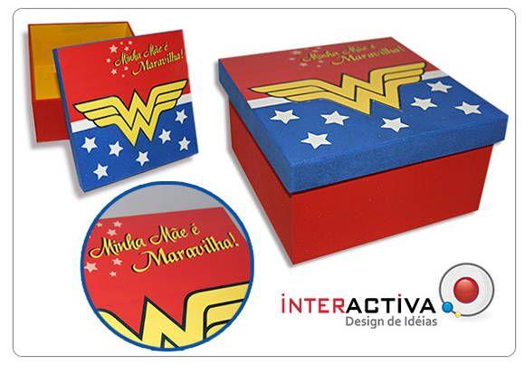 """Caixa Personalizada """"Minha Mãe é Maravilha""""  Presente ideal para Mães,, madrinhas, tias, avós, etc...  Entre em contato e solicite a sua caixa R$ 28,00"""