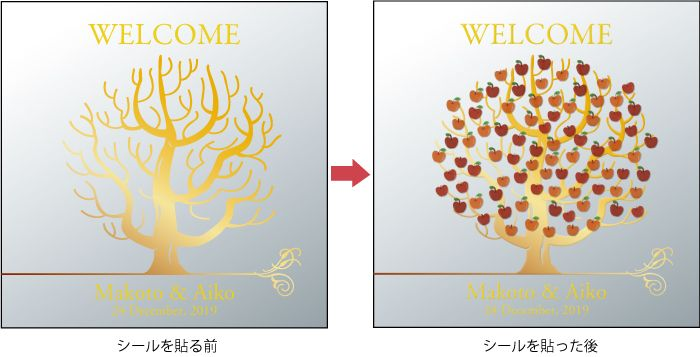 Rakuten guest participatory wedding welcome board mirror / tree / M size Free Shipping [participation] [Seal] [wedding] [bridal]: Wedding workshop Atelier Michel