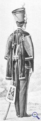 Русский гусарский ментик образца 1838 года.