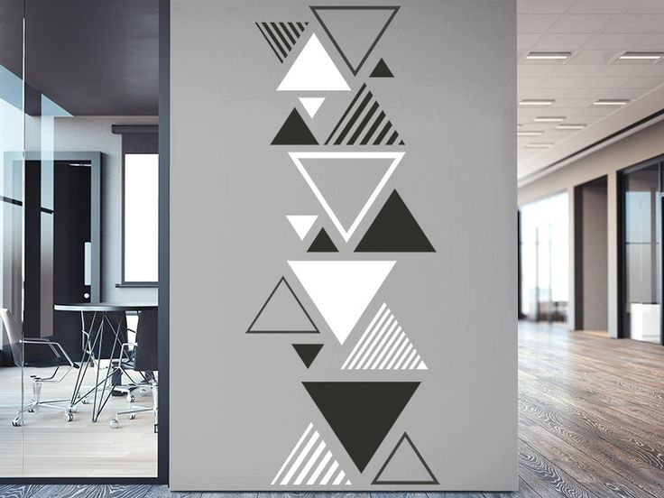 Wall decal Two-tone triangle ornament