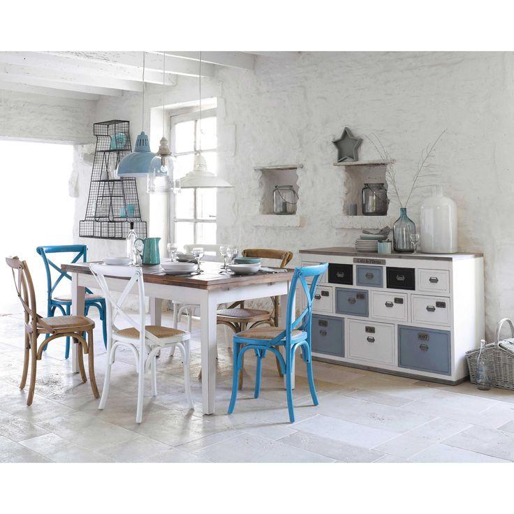 Cassettiera bianca multi-cassetti a bancone in legno L 133 cm Molene | Maisons du Monde