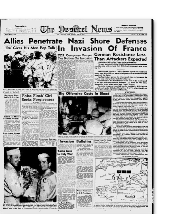 d day invasion newspaper articles