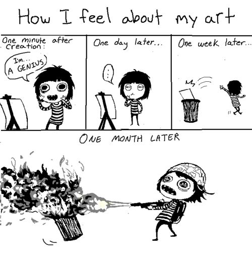 This is how I feel when I write