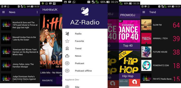 AZ-Radio: Online radio broadcasting app