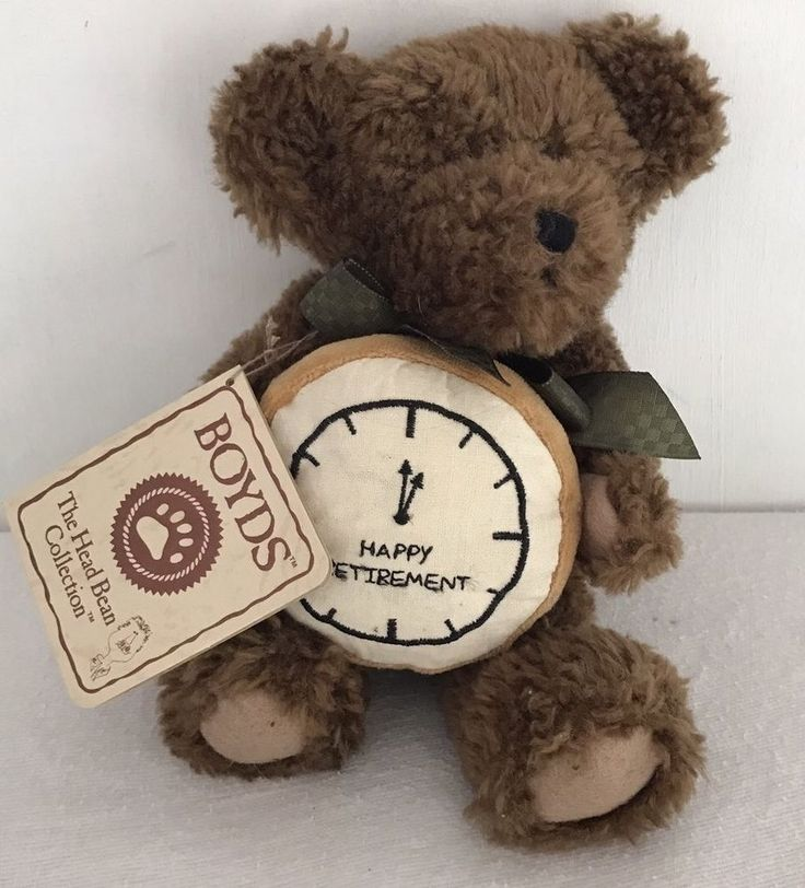 Boyds Bear Max Relax Happy Retirement Clock 903041 With Tag Thinkin Of Ya Series  | eBay