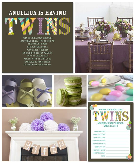 best twin baby shower ideas images on   baby shower, Baby shower invitation