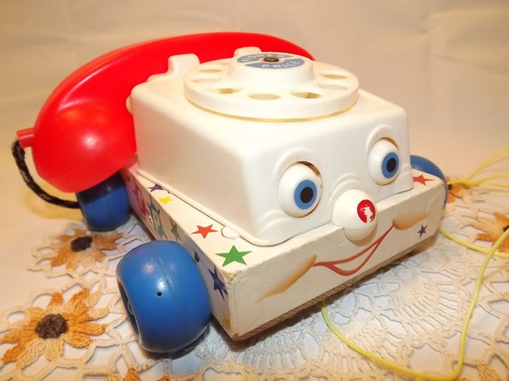 Vintage Fisher Price Pull Toy #747 - Chatter Telephone, So Call Me Maybe? Smiley Face Phone for Toddlers, Educational Toy, Communications - pinned by pin4etsy.com