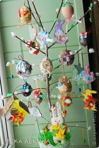 Интерьер Аппликация: Пасхальное дерево  Акварель Пасха. Фото 2