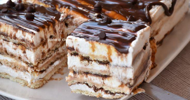 torta di biscotti fredda alla nutella e ricotta