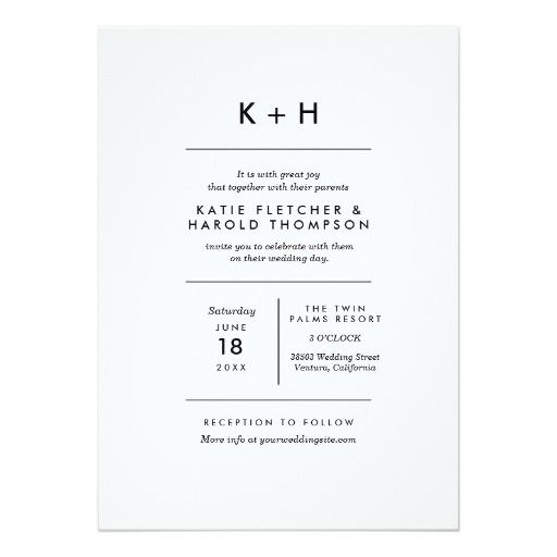 1439 best Paper Goods \ Signage images on Pinterest Invitations - fresh invitation template simple