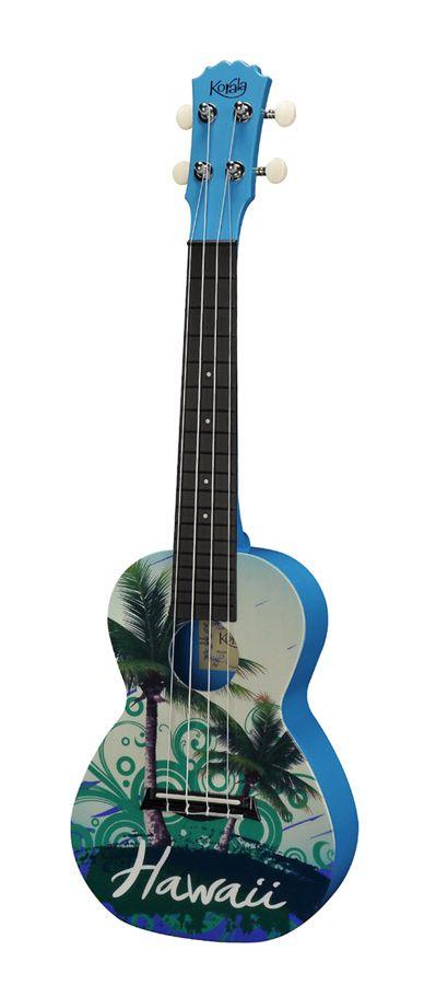 Korala Polycarbonate Concert Ukulele Hawaiian Green with Aquila Strings   eBay