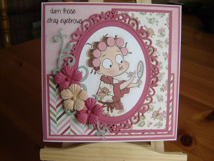 Cute, silly and sassy stamp from Creative Vision