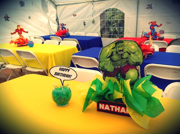 Hulk Centerpiece Avengers Theme Superhero Birthday