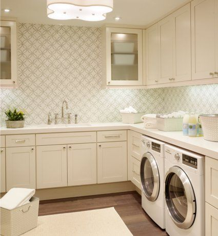 Laundry ROOM, not a laundry closet: Laundryrooms, Ideas, Dream, Wallpaper, Mud Room, Laundry Rooms, House, Light Fixture, Laundry Mudroom