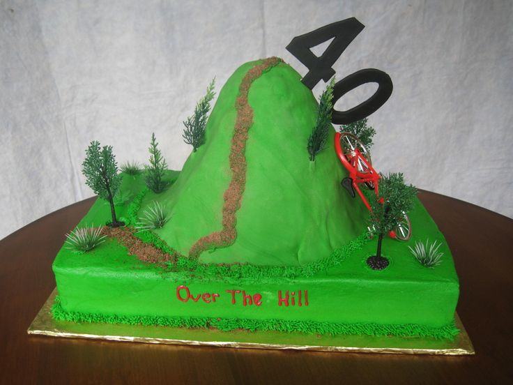 This was for my brothers 40th birthday.  He enjoys mountain bike riding so that's the reason for the bike.