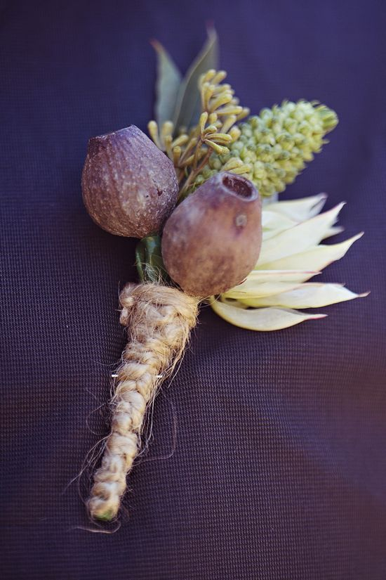 native Australian buttonhole.