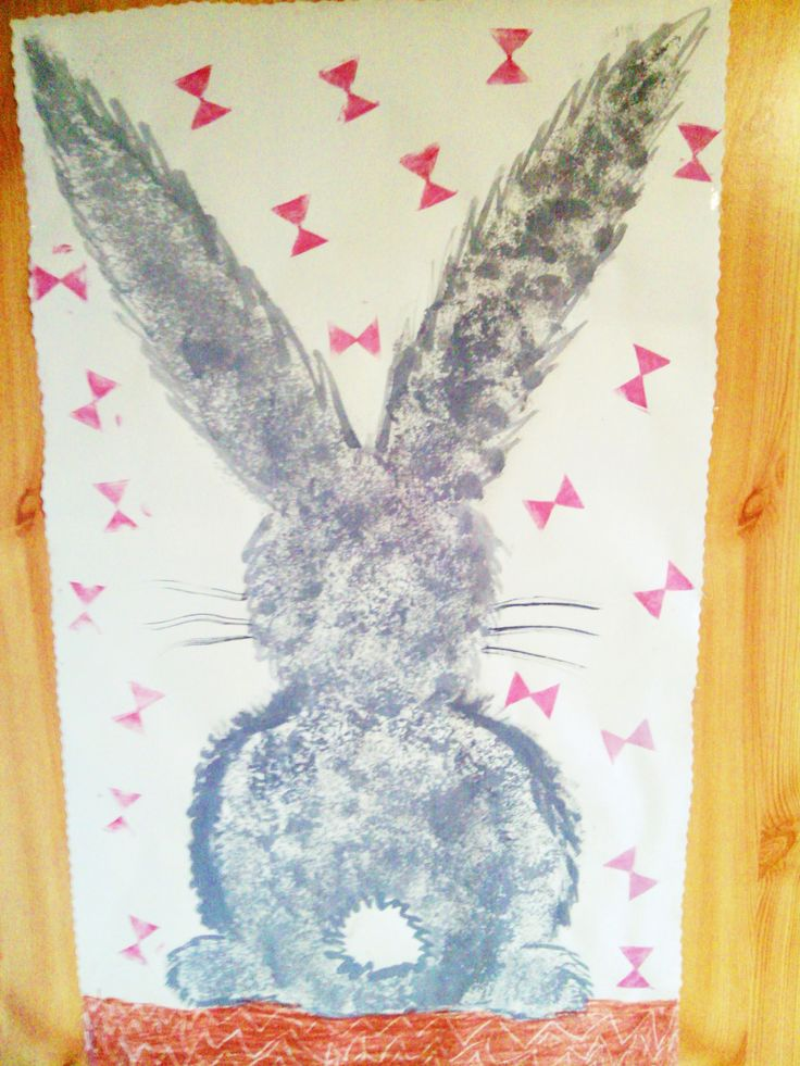 Bunny on our fridge at Easter :)