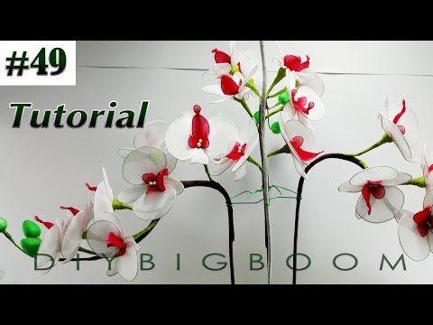 Nylon stocking flowers tutorial #43, How to make nylon stocking flower step by step - YouTube