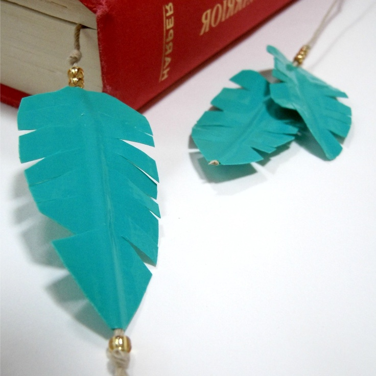 Duct Tape Feather Bookmark