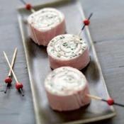 Roulades de jambon au fromage frais - une recette Express - Cuisine