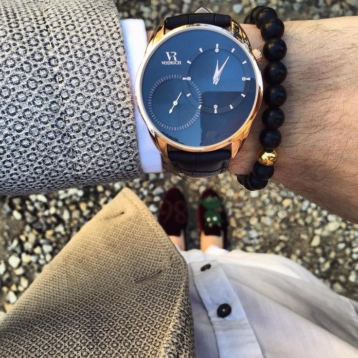On Time, On Point@Draghetto86 sporting Dual Time Rose Gold & Gold Onyx Bracelet in Milan