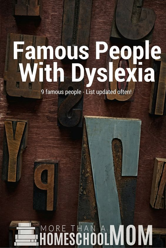 List of famous people, Dyslexia and Famous people on Pinterest