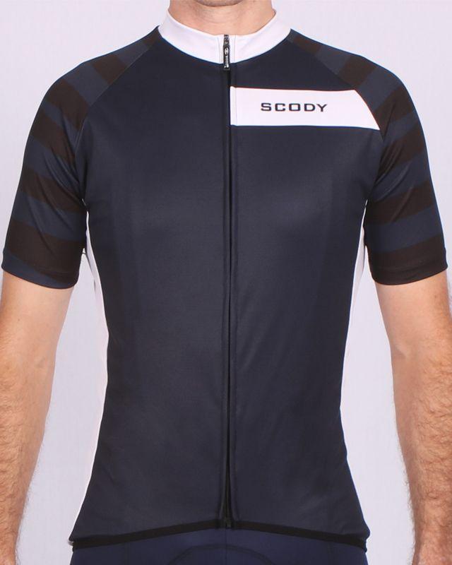 075c9b6de SCODY Asylum Navy Black Performance Cycle Jersey