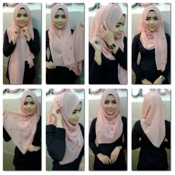 Freaking Random: Shawl / Pahmina Hijab Tutorials Collection