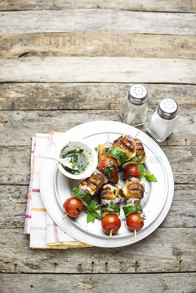 pane&burro: Spiedini vegetariani di verdure e scamorza con oli...