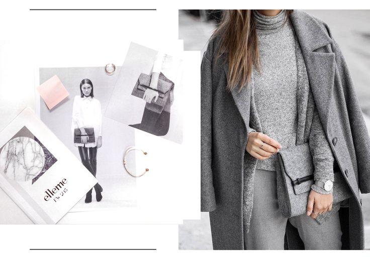 #elleme #ellemebags #clutch #grey