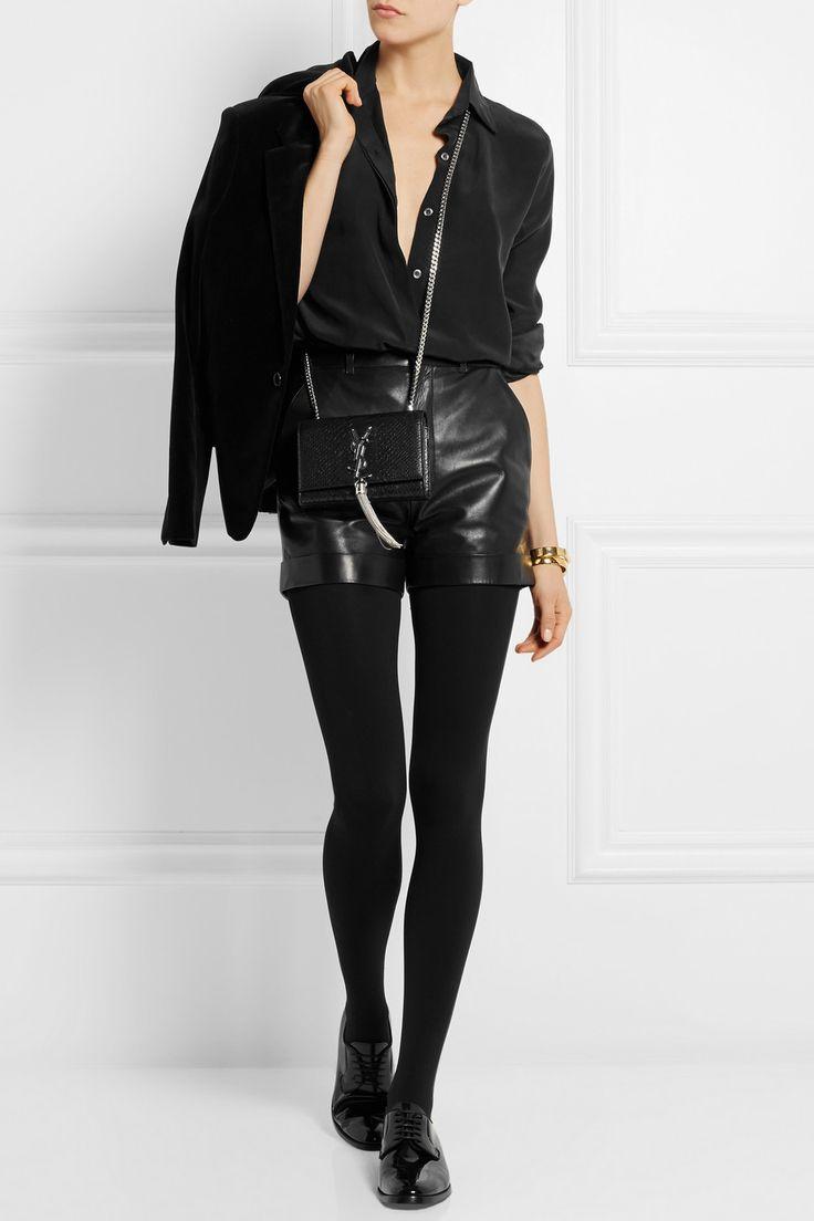 Saint Laurent | Leather shorts | NET-A-PORTER.COM