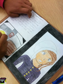 Photo-journal of a typical pilgrim girl.  Students wrote their own story about the day from dawn to dusk and then illustrated it in a scrapbook style.  It really showed all that they had learned about the colonial way of life.