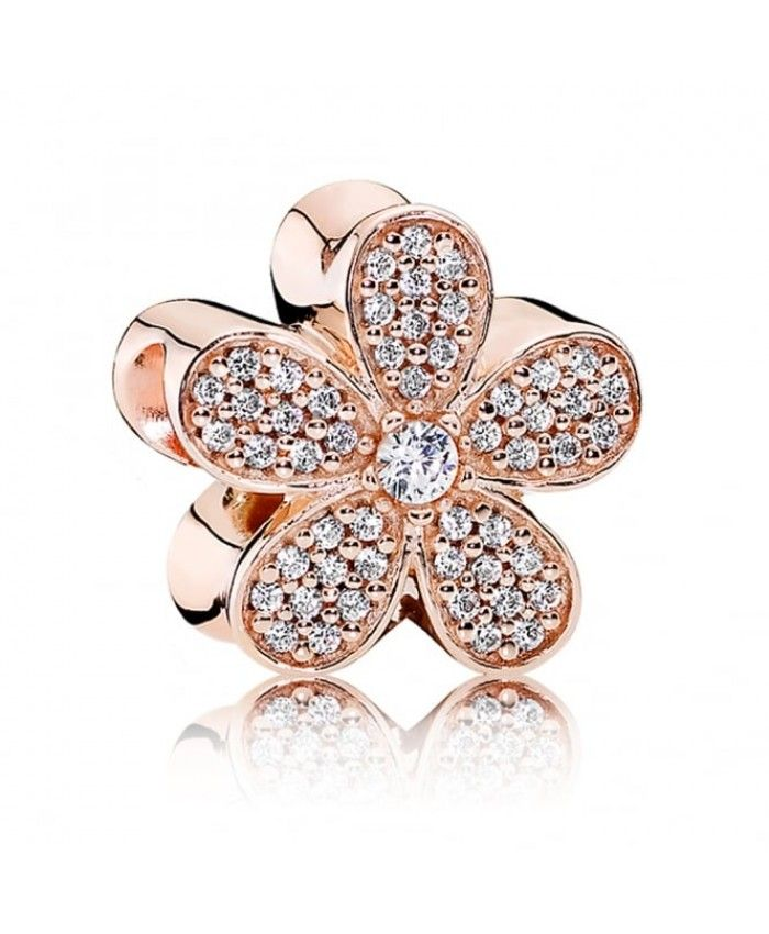 PANDORA Rose Gold Dazzling Daisy Charm Excellent workmanship, the choice of  materials is very fine