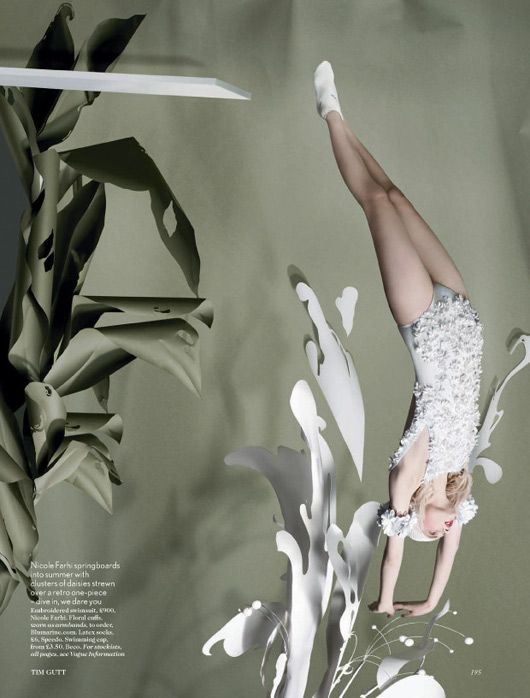 British Vogue, Paper Plates, Olympic sport editorial