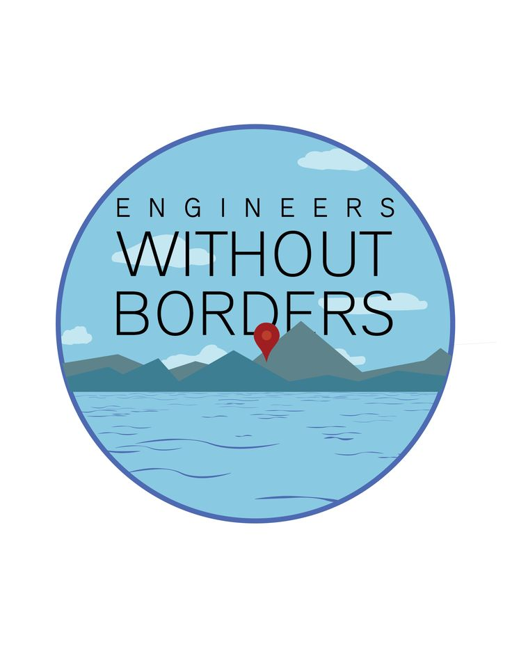 A t shirt design i put together for the wwu branch of engineers without borders