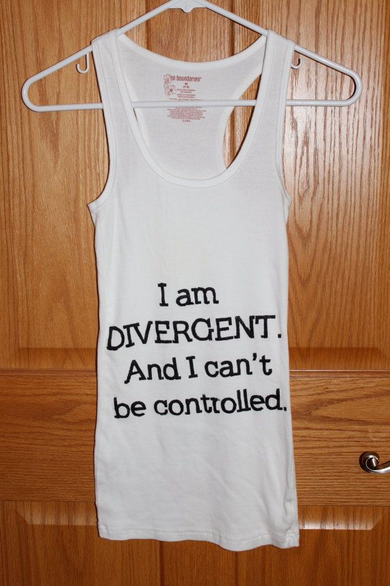 Divergent Inspired Tank Top with 5 Factions on the Back. on Etsy, $19.50